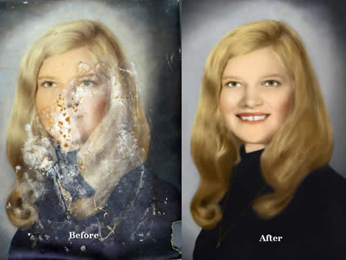 Photo Restoration Service Victoria Texas